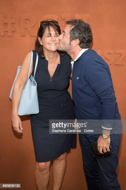 Valerie Expert and Bernard Montiel attend the French Tennis Open 2017 Day Twelve at Roland Garros on June 8 2017 in Paris France