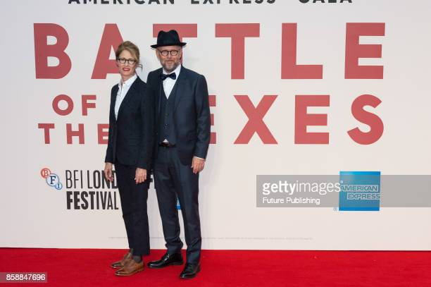 Valerie Faris and Jonathan Dayton arrive for the European film premiere of 'Battle of the Sexes' at Odeon Leicester Square during the 61st BFI London...