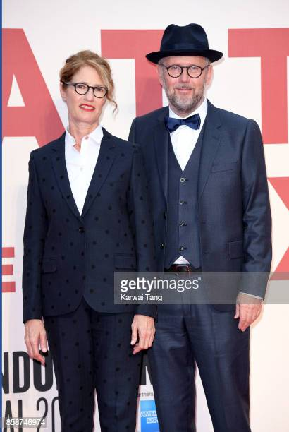 Valerie Faris and Jonathan Dayton attend the American Express Gala European Premiere of 'Battle of the Sexes' during the 61st BFI London Film...