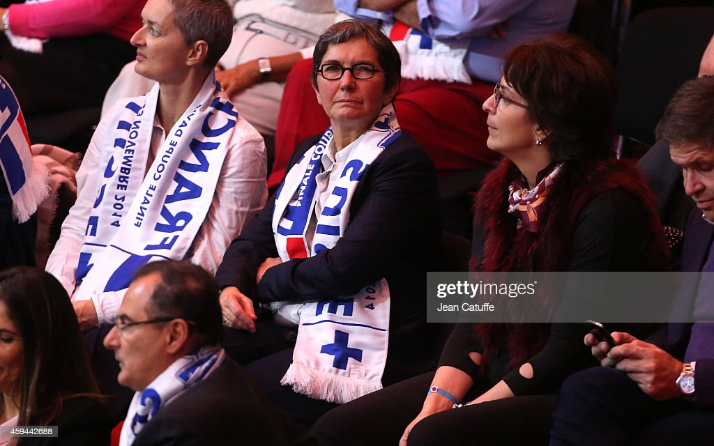 Valerie Fourneyron attends the doubles on day two of the Davis Cup tennis final between France and Switzerland at the Grand Stade Pierre Mauroy on November 22, 2014 in Lille, France.