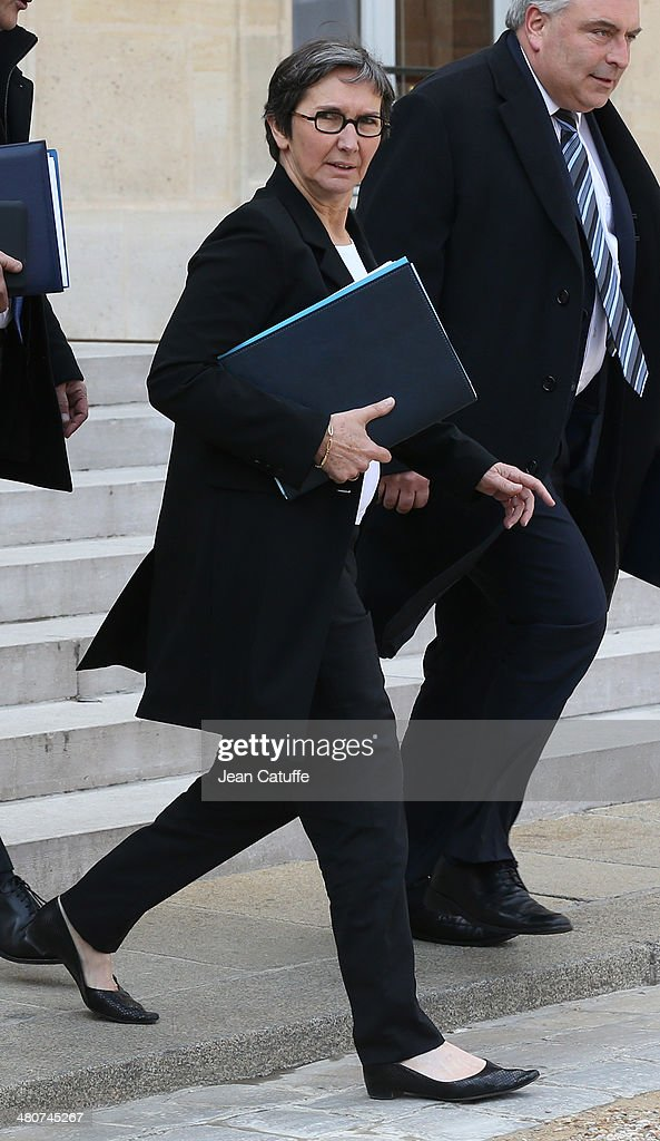Valerie Fourneyron, french Minister for Sports attends the 'Conseil des Ministres', the weekly Cabinet meeting around the French President at Elysee Palace on March 26, 2014 in Paris, France.