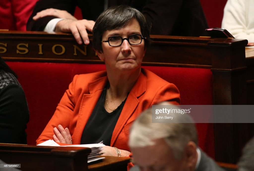 Valerie Fourneyron, french Minister of Sports participates at the Questions to the Government at the french National Assembly on February 4, 2014 in Paris, France.