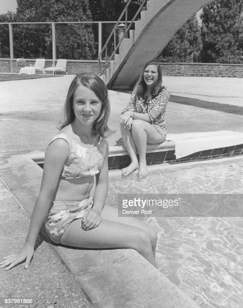 Valerie Gates left chooses swimming poot to entertain her houseguest Davonne Howell 18 of Locarno Switzerland during her threeweek visit Credit...