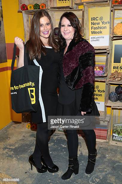 Valerie Greenberg and Adrienne Stern attend IRC Fashion Week PopUp and Photo Exhibition at Empire Hotel on February 14 2015 in New York City