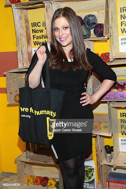 Valerie Greenberg attends IRC Fashion Week PopUp and Photo Exhibition at Empire Hotel on February 14 2015 in New York City