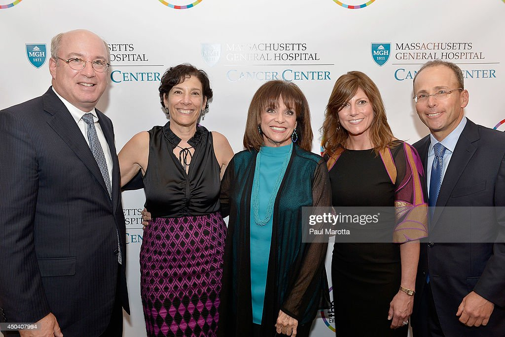 <a gi-track='captionPersonalityLinkClicked' href=/galleries/search?phrase=Valerie+Harper&family=editorial&specificpeople=206853 ng-click='$event.stopPropagation()'>Valerie Harper</a> (center) and guests attend the Mass General Hospital Cancer Center's 7th annual 'the one hundred' Event at the Westin Boston Waterfront Hotel on June 10, 2014 in Boston, Massachusetts.
