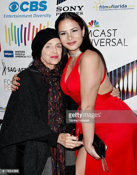 Valerie Harper and Harmony Santana attend the 12th annual La Femme International Film Festival closing ceremony at The Los Angeles Theatre Center on...