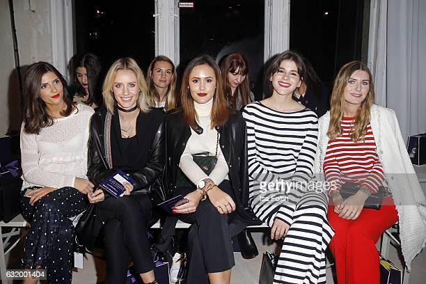 Valerie Husemann Lisa Hahnbueck Laura Noltemeyer Michele Kruesi and Magdalena Ilic attend the Laurel show during the MercedesBenz Fashion Week Berlin...