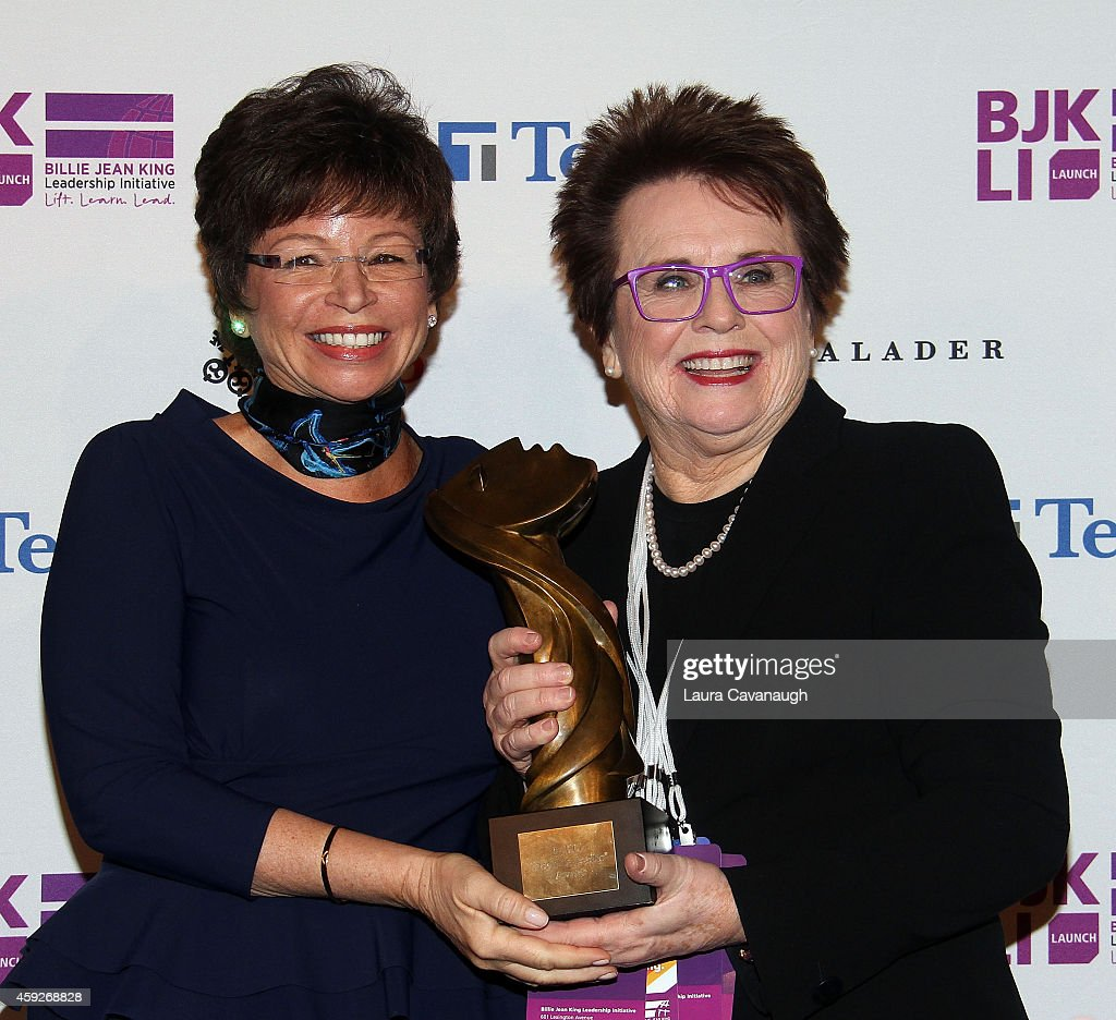 Valerie Jarrett Senior Advisor to the President of the United States and Billie Jean King attend the Billie Jean King Leadership Initiative Gala at...