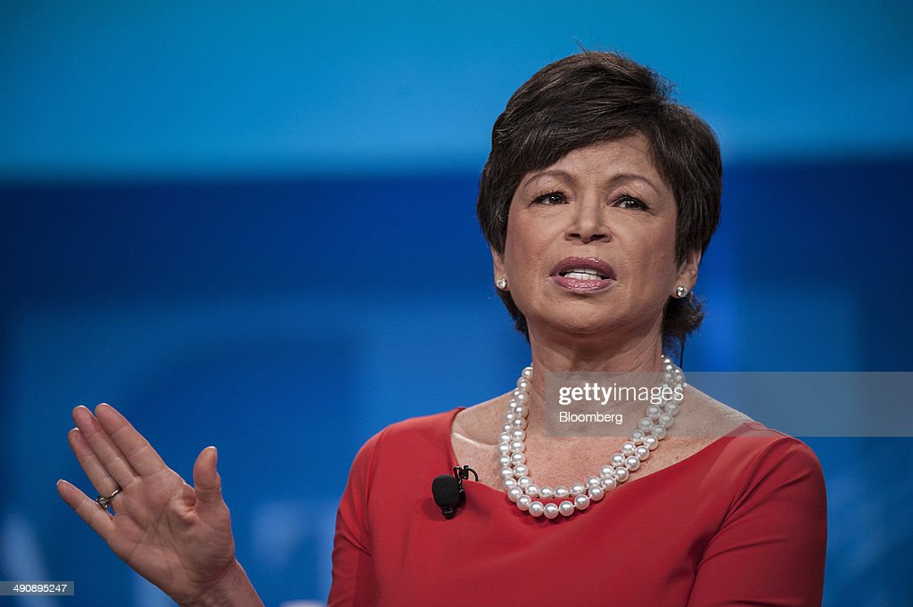 Valerie Jarrett senior advisor to US President Barack Obama speaks during the SkyBridge Alternatives conference in Las Vegas Nevada US on Thursday...
