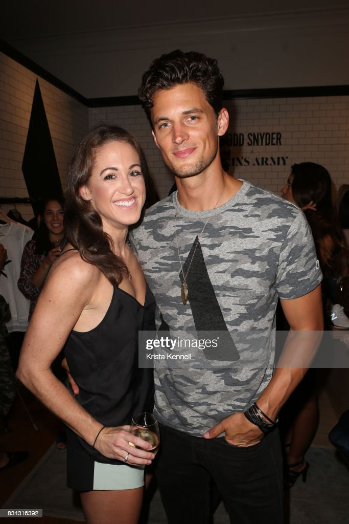 Valerie Josephine and Greg Smith attend Todd Snyder x Akin's Army Collaboration Launch at Todd Snyder Flagship Store on August 17, 2017 in New York City.