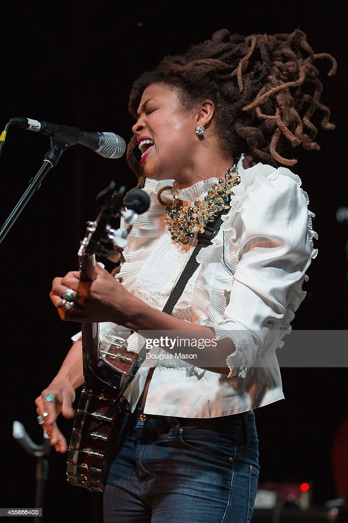 <a gi-track='captionPersonalityLinkClicked' href=/galleries/search?phrase=Valerie+June&family=editorial&specificpeople=5801252 ng-click='$event.stopPropagation()'>Valerie June</a> performs during the 2014 Fresh Grass Music Festival at Mass MoCA on September 20, 2014 in North Adams, Massachusetts.