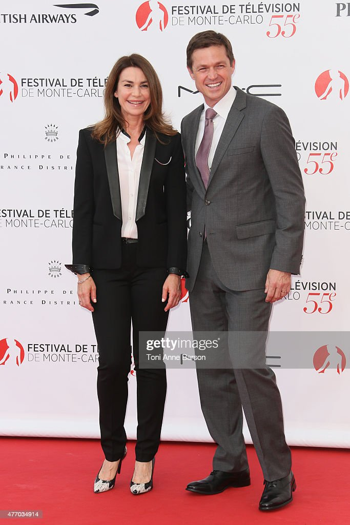 Valerie Kaprisky and Eric Close attend the 55th Monte Carlo TV Festival Opening Ceremony at the Grimaldi Forum on June 13, 2015 in Monte-Carlo, Monaco.