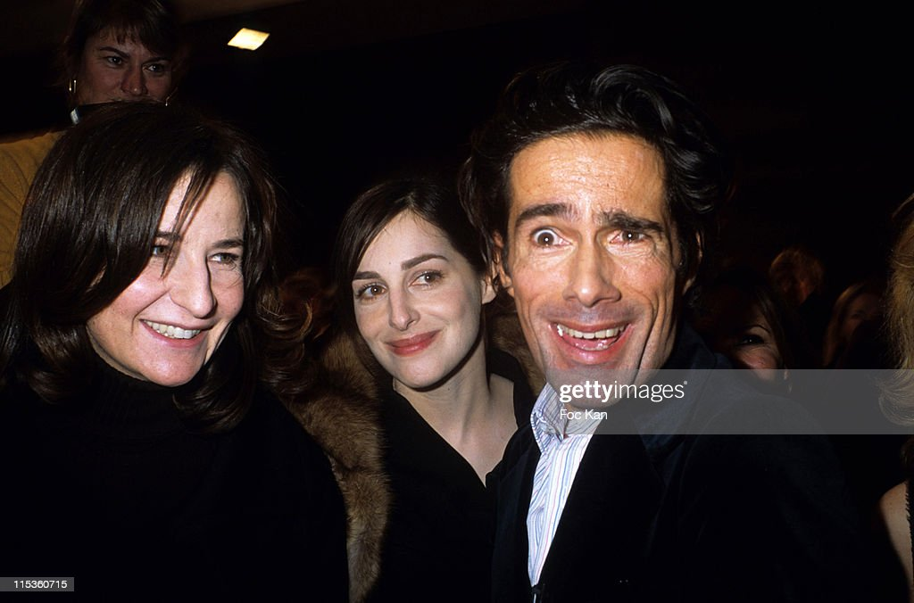 Valerie Lemercier Amira Casar and Vincent Darre during Paris Fashion Week Ready To Wear Fall/Winter 2005 Ungaro Show at Front Row Carrousel Du Louvre...