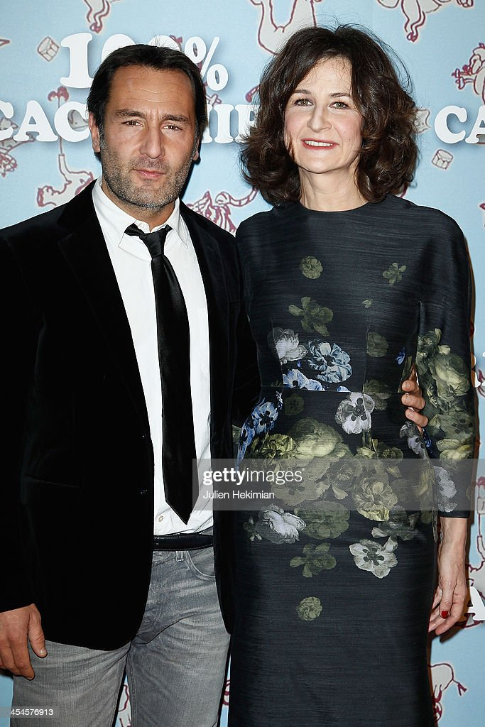 Valerie Lemercier and Gilles Lellouche attend '100% Cachemire' Paris Premiere at Cinema Pathe Beaugrenelle on December 9 2013 in Paris France