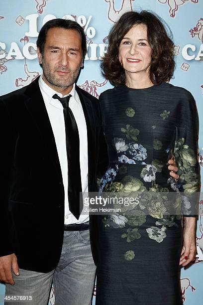 Valerie Lemercier and Gilles Lellouche attend '100% Cachemire' Paris Premiere at Cinema Pathe Beaugrenelle on December 9 2013 in Paris France