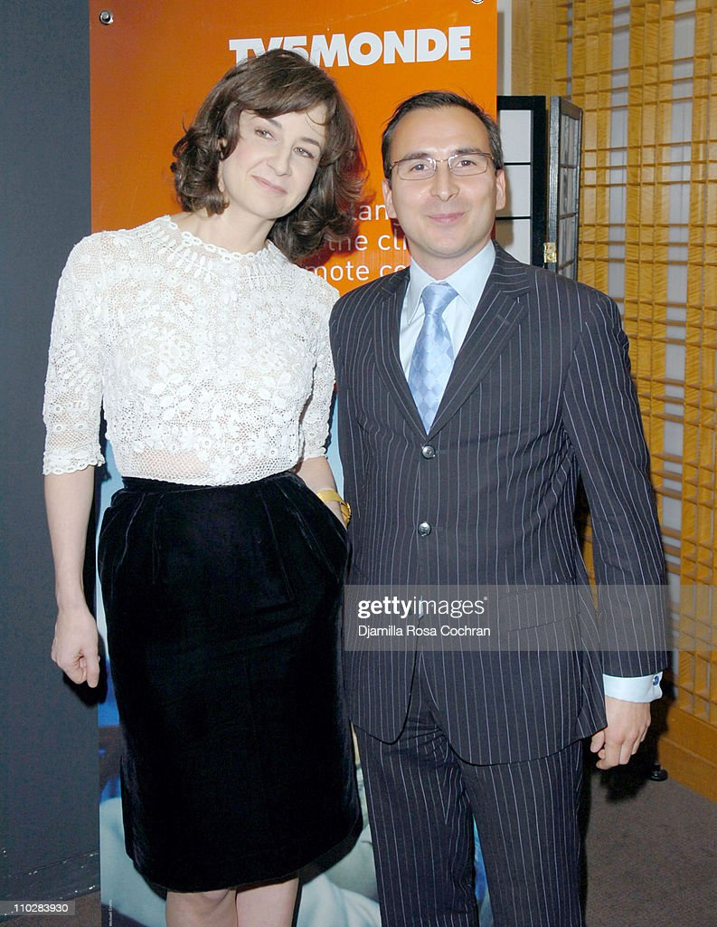 Valerie Lemercier and Patrice Courtaban during Opening Night of 'Palais Royal' at Alice Tully Hall in New York City New York United States