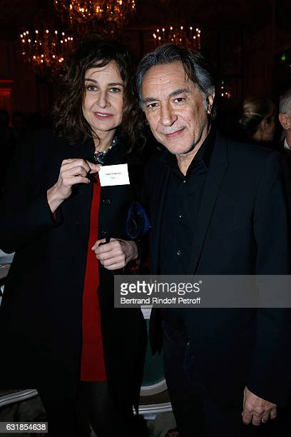 Valerie Lemercier and Richard Berry attend the 'Cesar Revelations 2017' Dinner at Hotel Meurice on January 16 2017 in Paris France