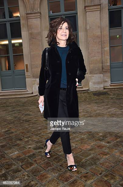 Valerie Lemercier attends the Schiaparelli show as part of Paris Fashion Week Haute Couture Spring/Summer 2015 on January 26 2015 in Paris France