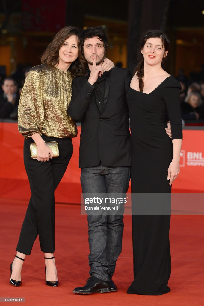 Valerie Lemercier Jeremie Elkaim and Valerie Donzelli attend the 'Main Dans La Main' Premiere during the 7th Rome Film Festival at the Auditorium...
