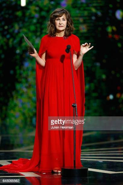 Valerie Lemercier speaks on stage during the Cesar Film Awards Ceremony at Salle Pleyel on February 24 2017 in Paris France
