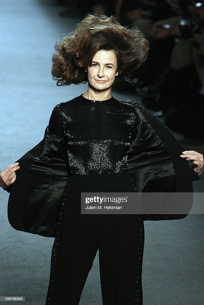 Valerie Lemercier walks the runway during the JeanPaul Gaultier Ready to Wear Autumn/Winter 2011/2012 show during Paris Fashion Week at Atelier...