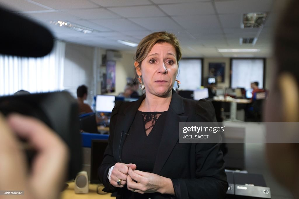 Valerie Maldonado, head of the French Anti-Cybercrime Office (OCLCTIC), poses at the PHAROS internet investigation unit in Nanterre, near Paris, on February 4, 2014. PHAROS is part of the French Anti-Cybercrime Office (OCLCTIC).