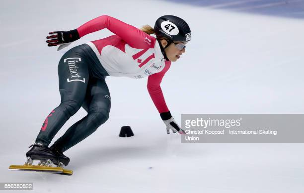 Valerie Maltais of Canada competes during the ladies 1000m semifinal heat one during the Audi ISU World Cup Short Track Speed Skating at Bok Hall on...