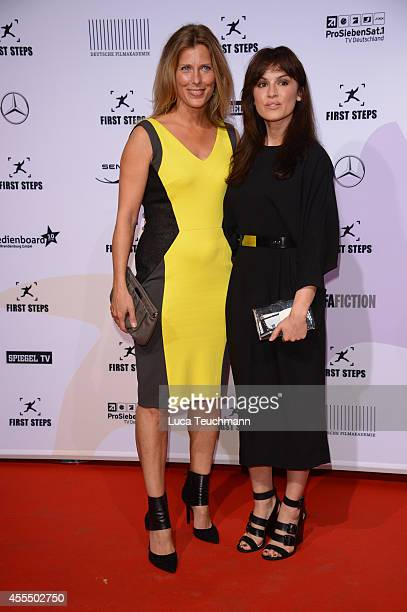 Valerie Niehaus and Natalia Avelon attend the First Steps Award 2014 at Stage Theater on September 15 2014 in Berlin Germany