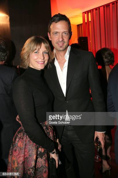 Valerie Niehaus and Till Broenner during the Berlin Opening Night by GALA and UFA Fiction at hotel 'The Stue' on February 9 2017 in Berlin Germany