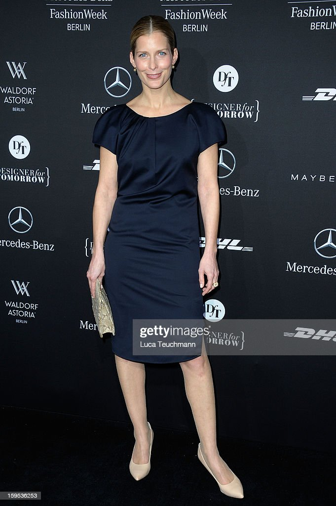 Valerie Niehaus attends Leandro Cano Autumn/Winter 2013/14 fashion show during Mercedes-Benz Fashion Week Berlin at Brandenburg Gate on January 15, 2013 in Berlin, Germany.
