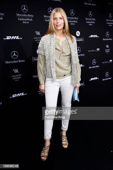 Valerie Niehaus attends Schumacher Autumn/Winter 2013/14 Fashion Show during MercedesBenz Fashion Week Berlin at Brandenburg Gate on January 17 2013...