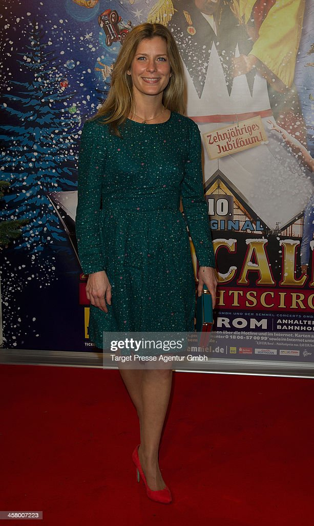 Valerie Niehaus attends the 10th Roncalli Christmas Circus at Tempodrom on December 19, 2013 in Berlin, Germany.
