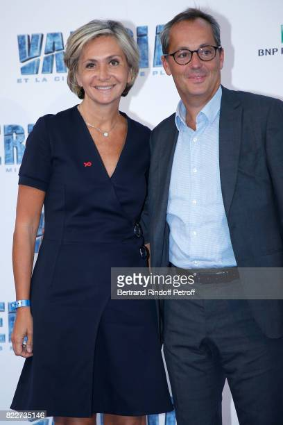 Valerie Pecresse and her husband Jerome Pecresse attend 'Valerian et la Cite des Mille Planetes' Paris premiere at La Cite Du Cinema on July 25 2017...