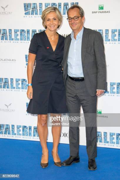 Valerie Pecresse and Jerome Pecresse attend 'Valerian et la Cite desMille Planetes' Paris Premiere at La Cite Du Cinema on July 25 2017 in SaintDenis...