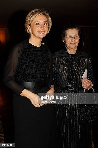 Valerie Pecresse and Simone Veil attend the Conseil Pasteur Weizmann For Peace and Science 35th Anniversary at Opera Bastille on April 14 2010 in...