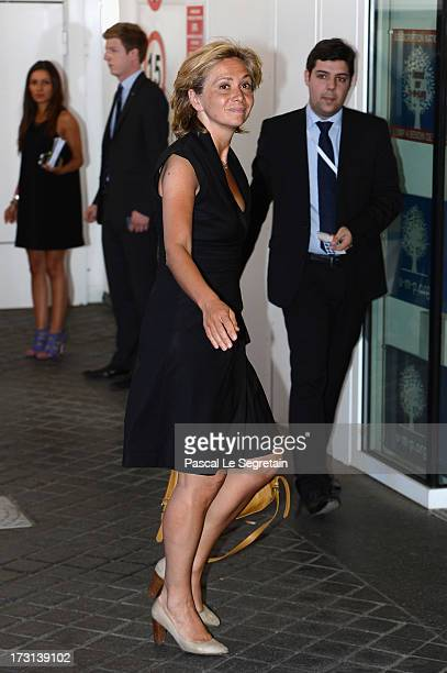 Valerie Pecresse arrives at the UMP headquarters to attend an extraordinary meeting of UMP rightwing opposition party July 8 2013 in Paris France...