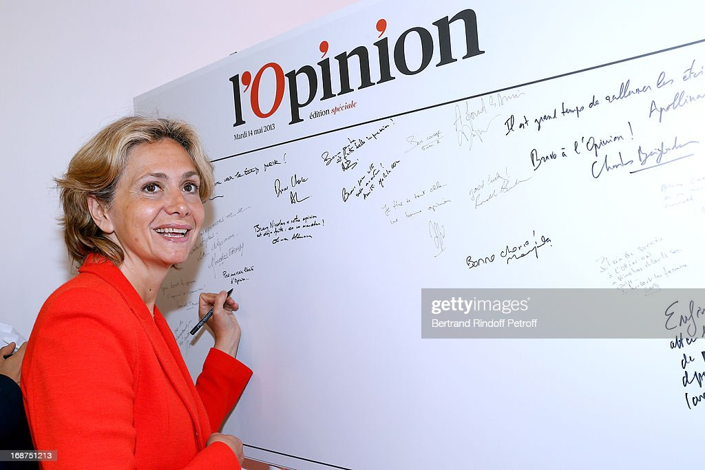 Valerie Pecresse attends 'L'Opinion' Newspaper Launch Party on May 14, 2013 in Paris, France.