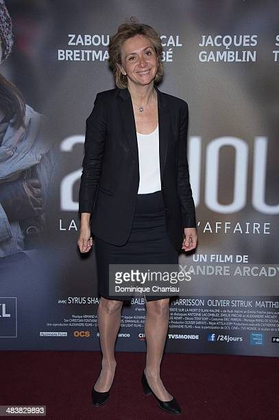 Valerie Pecresse attends the '24 Jours' Paris Premiere at Cinema Gaumont Marignan on April 10 2014 in Paris France