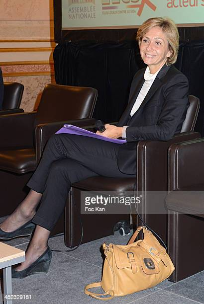 Valerie Pecresse attends the Etats Generaux Des Elus Locaux Against Aids cocktail at Hotel De Lassay on November 27 2013 in Paris France