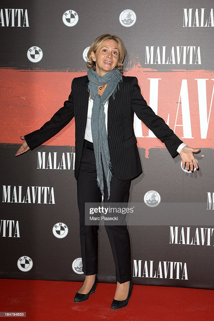 Valerie Pecresse attends the 'Malavita' premiere on October 16, 2013 in Roissy-en-France, France.