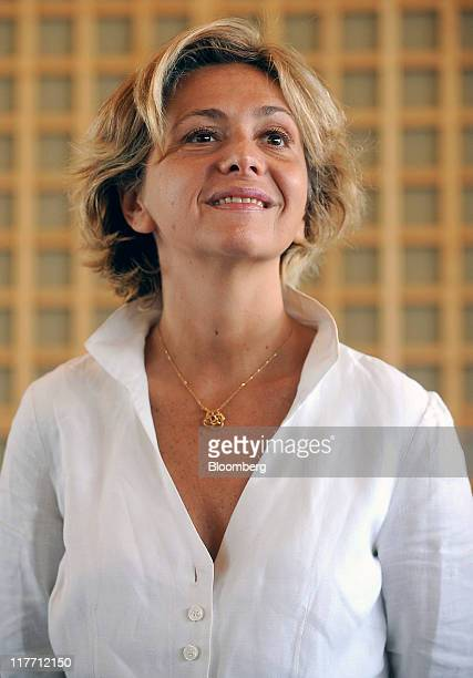 Valerie Pecresse France's budget minister pauses during a news conference in Paris France on Thursday June 30 2011 Pecresse will stick with...