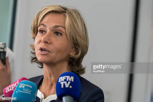 Valerie Pecresse in Paris France on May 16 2017 for a LR Right Wing Party meeting after to think about a new strategy in the second round of the...