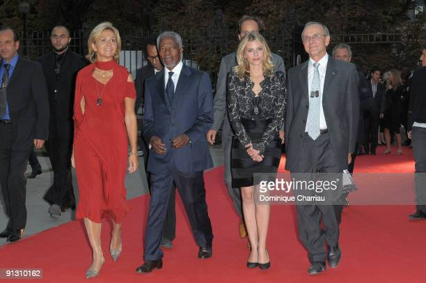Valerie Pecresse Koffi Annan Melanie Laurent attend 'Beds Are Burning' song launch by Kofi Annan and Havas Worldwide at Universite Paris Descartes on...