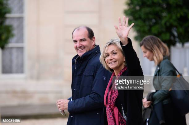 Valerie Pecresse President of the Ile de France regional council during the reception of the CIO by the French President at Elysee Palais on...
