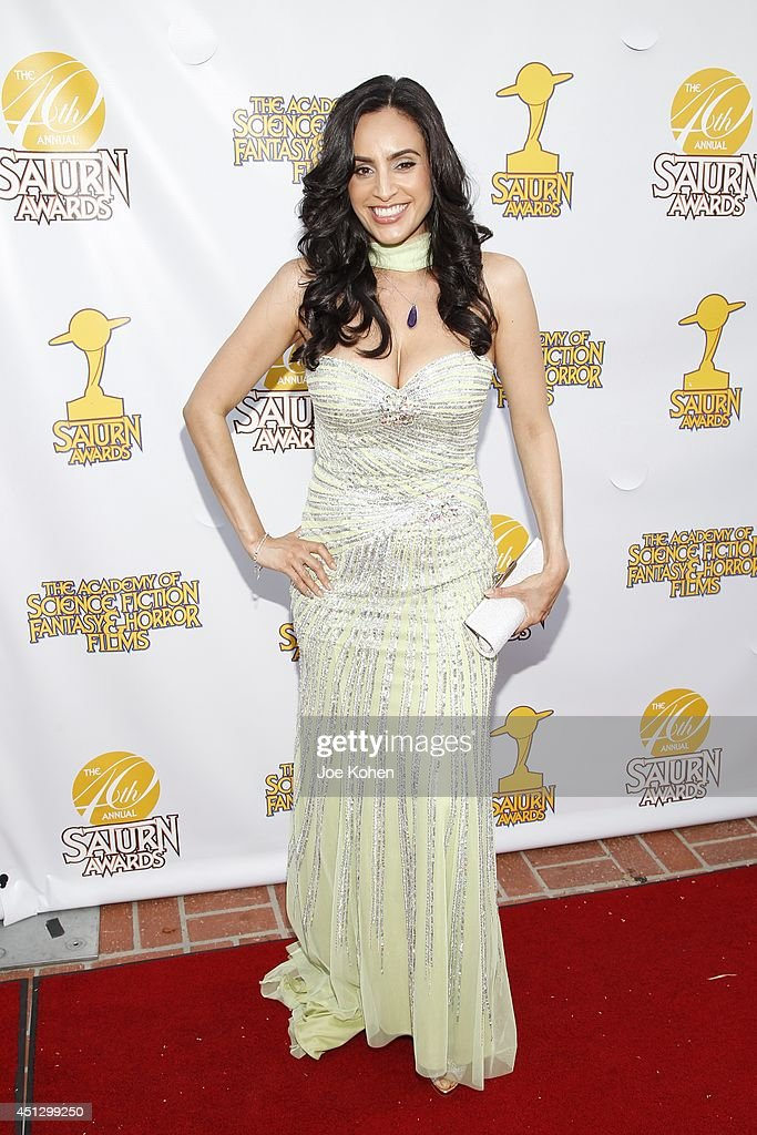 <a gi-track='captionPersonalityLinkClicked' href=/galleries/search?phrase=Valerie+Perez&family=editorial&specificpeople=5799329 ng-click='$event.stopPropagation()'>Valerie Perez</a> attends the 40th Annual Saturn Awards at The Castaway on June 26, 2014 in Burbank, California.