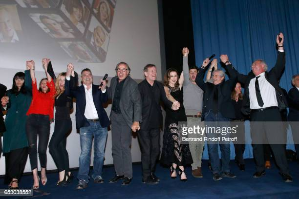 Valerie Perrin Vanessa Demouy Lola Marois JeanMarie Bigard Michel Leeb Francis Huster Elsa Zylberstein and Director Claude lelouch attend the 'Chacun...