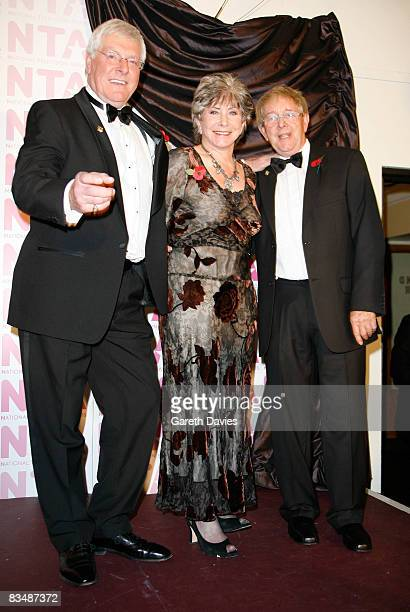 Valerie Singleton John Noakes and Peter Purves is seen in the press room at the National Television Awards at the Royal Albert Hall on October 29...