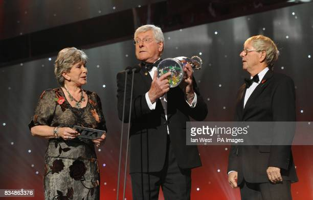 Valerie Singleton Peter Purves and John Noakes from Blue Peter at the 2008 National Television Awards at the Royal Albert Hall Kensington Gore SW7