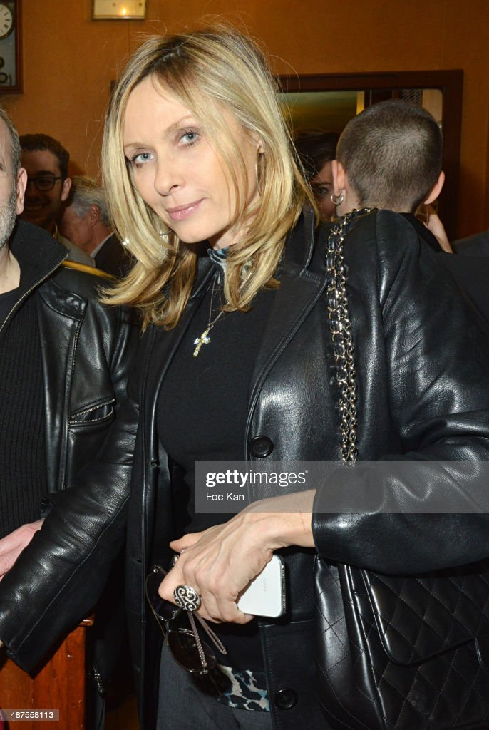 Valerie Steffen attends the Francis Boussard's and Nadine Carpentier's : Private Cocktail At Cafe de Flore on April 30, 2014 in Paris, France.